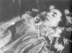 Теодор Ромжа на смертному одрі