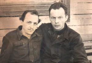Зліва на право Андрій Скрипка, Іван Мирон, табірне фото