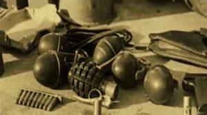 Кадр з фільму Срібна Земля, вилучена у терористів зброя