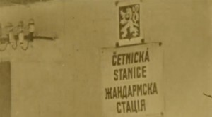 "Кадр з фільму ""Срібна Земля. Хроніки Карпатської України 1919-1939"", жандармська стація"