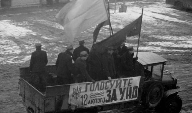 Агітаційна бригада «Карпатської Січі» агітує голосувати на виборах до Сойму Карпатської України за список УНО