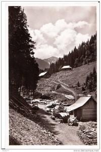 Ясіня на листівках міжвоєнного періоду
