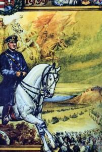 Угорський плакат, випущений з нагоди вступу гонведських військ в Карпатську Україну у березні 1939 р.