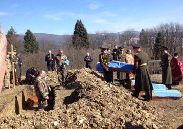 Перепоховання останків бійців Карпатської Січі, виявлених біля Верб'яжа