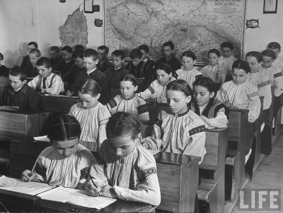 Початкова школа на Підкарпатській Русі. 1930-ті.