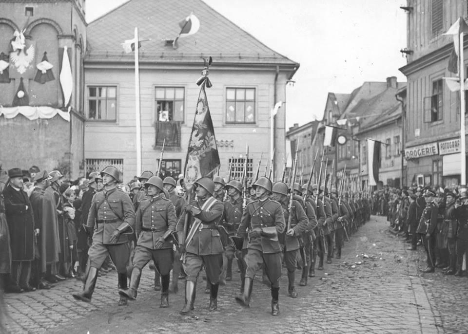 Зайняття польськими військами Тешинської Сілезії. Початок жовтня 1938 року.