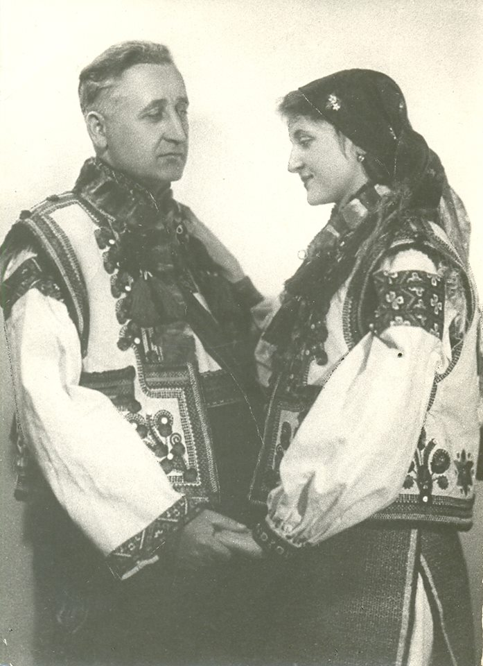 Степан Клочурак – президент Гуцульської республіки – з донькою Ольгою
