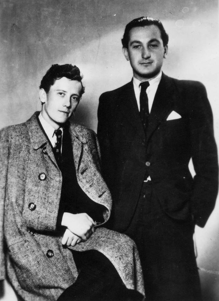 Молоді поети, студенти Будапештського університету Йосип Архій та Кирило Галас, 1942 р.