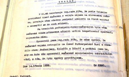 Запис телефонної розмови МЗС ЧСР щодо вторгнення угорської армії на територію Карпатської України