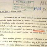 Запис телефонної розмови між Степаном Клочураком і канцелярією президента ЧСР