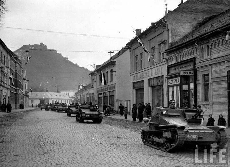 Військова окупація Закарпаття. Угорська армія в Хусті